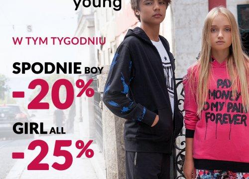 KAŻDY WYGRYWA! W tym tygodniu kolekcja GIRL ALL -25% oraz SPODNIE BOY -20%